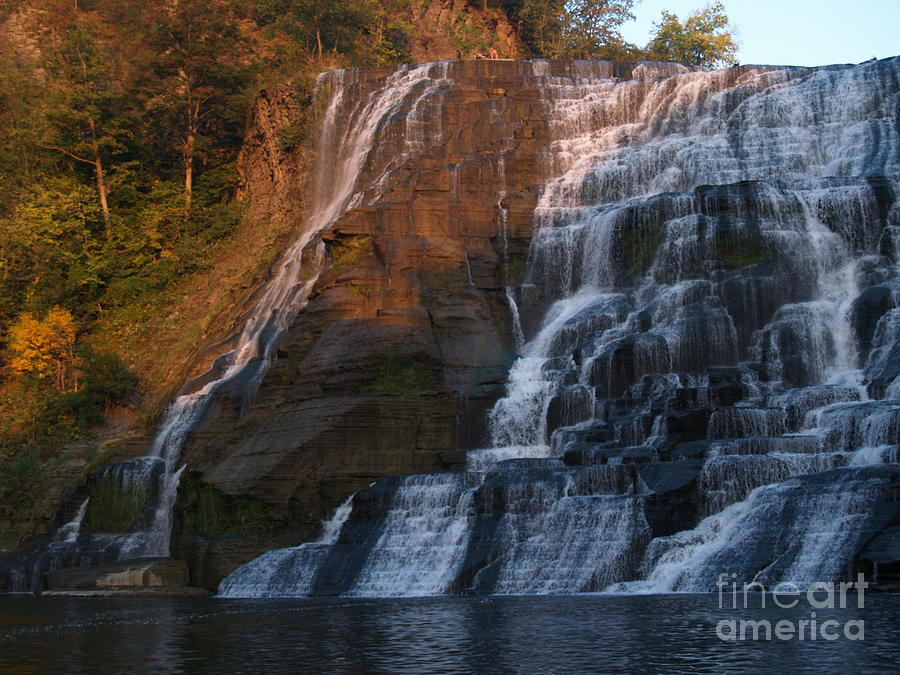 Ithaca Falls  --  Late Afternoon Photograph