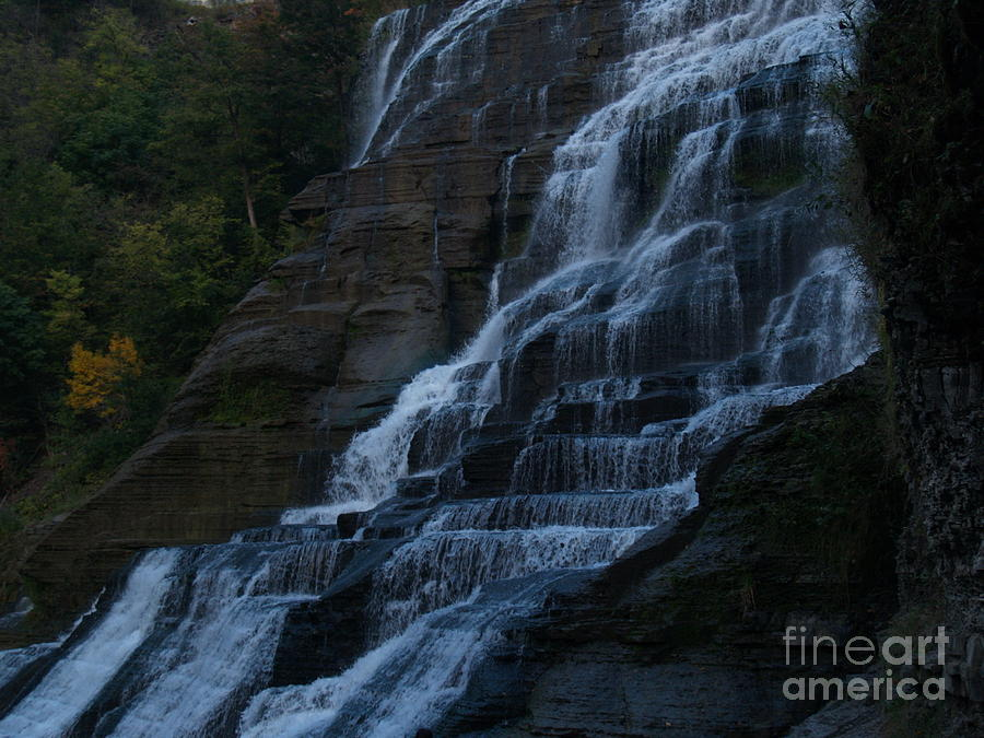 Ithaca Falls At Dusk Photograph