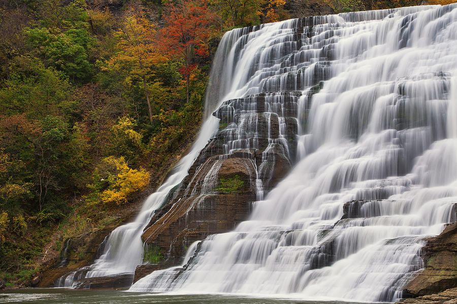 Michele Photograph - Ithaca Falls In Autumn by Michele Steffey