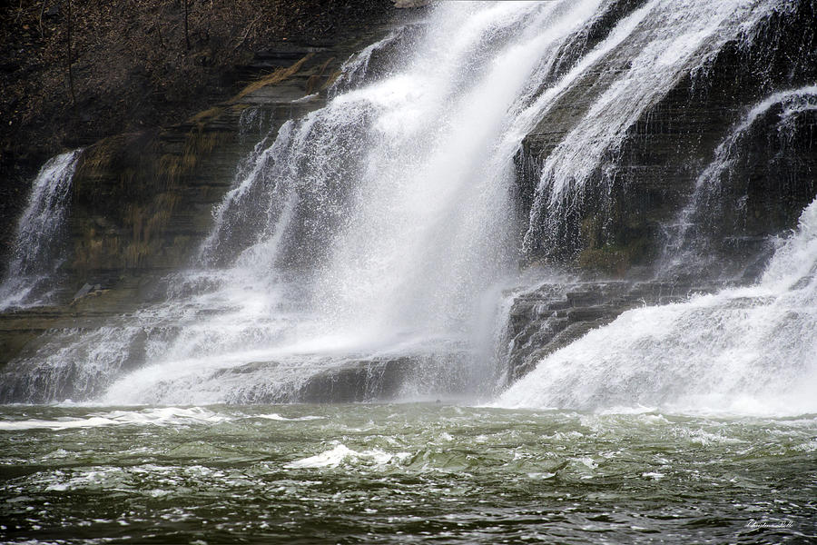 Ithaca Falls On Fall Creek - Mountain Showers Photograph