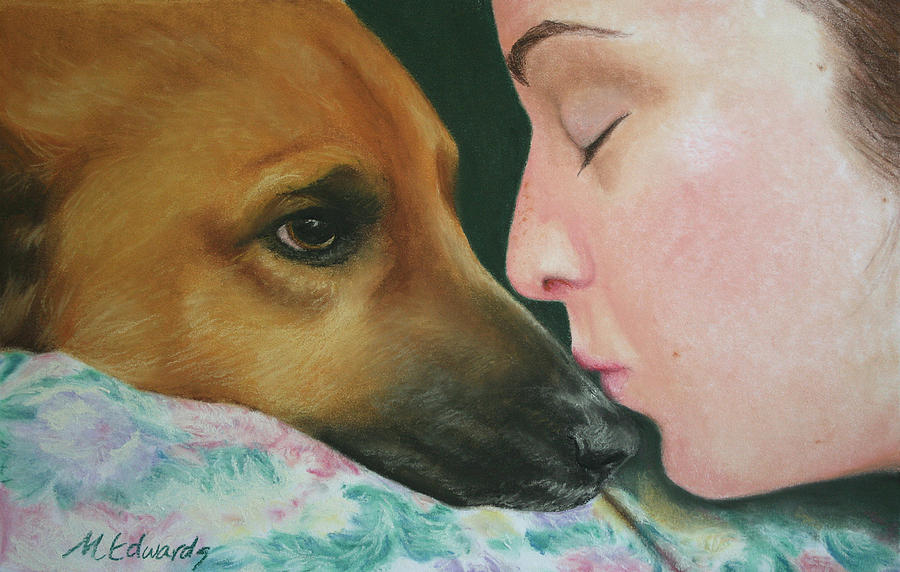 Dog Pastel - Its Alright by Marna Edwards Flavell