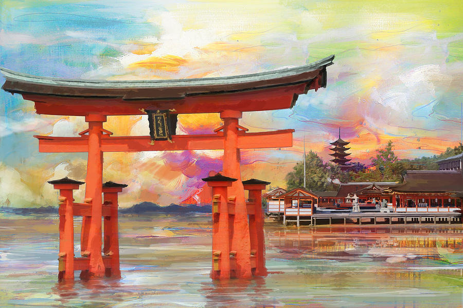Itsukushima Shrine Painting