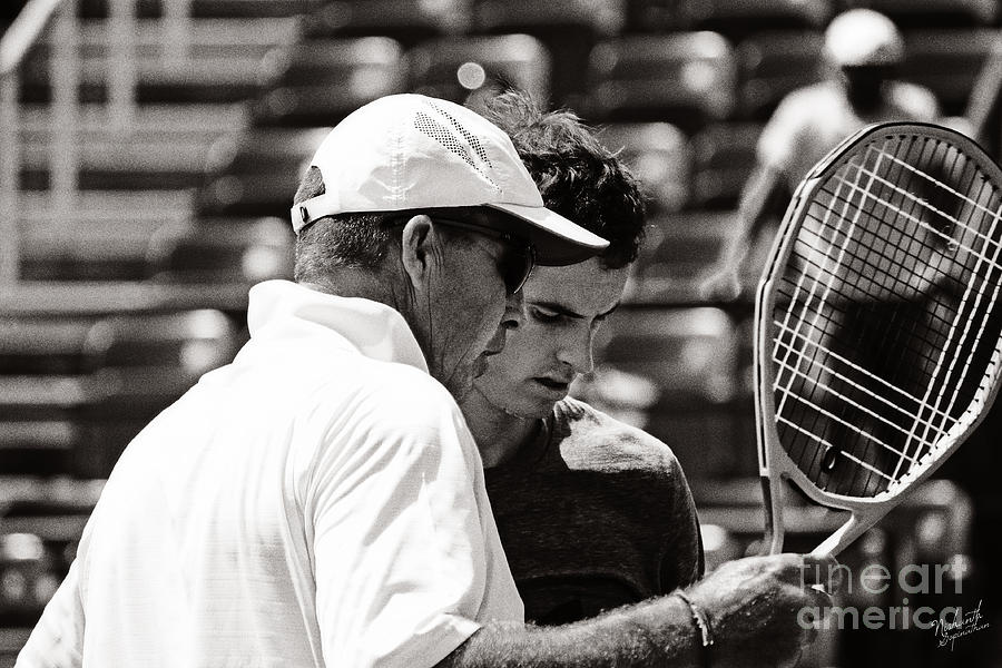 Ivan Lendl And Andy Murray  Photograph  - Ivan Lendl And Andy Murray  Fine Art Print