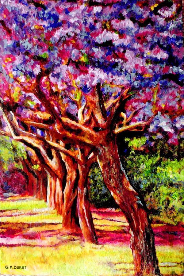 Jacaranda Lane Painting