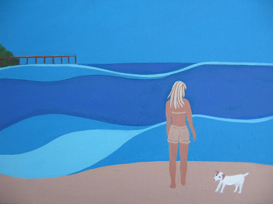 Jack At The Beach Painting  - Jack At The Beach Fine Art Print