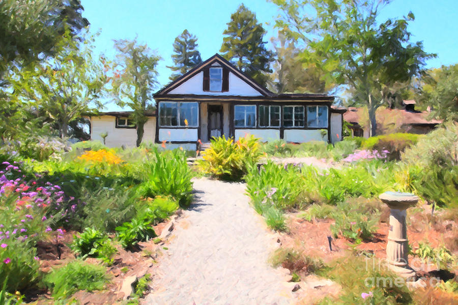 Jack London Countryside Cottage And Garden 5d24565 Photograph