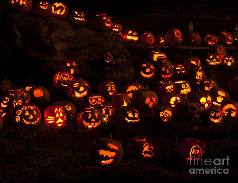 Jack-o-lanterns Photograph