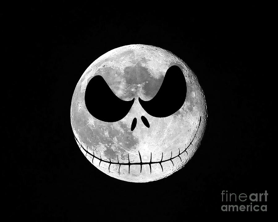 Jack Skellington Moon Photograph