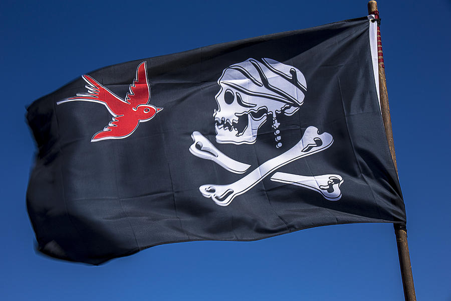 Jack Sparrow Pirate Skull Flag Photograph  - Jack Sparrow Pirate Skull Flag Fine Art Print