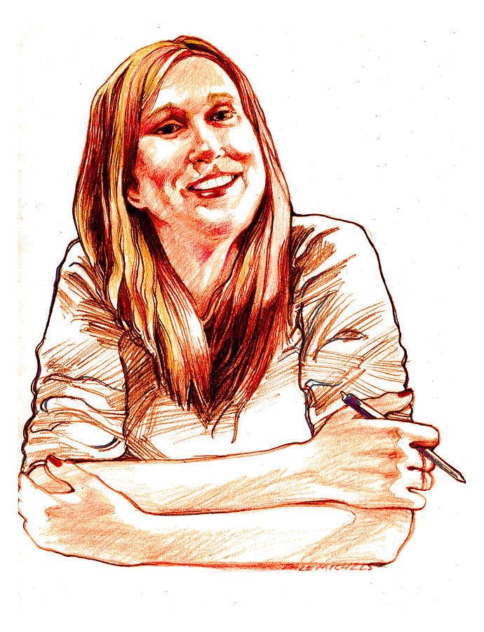 Doddridge Senior Citizens Drawing - Jackie Lebel by Dale Michels