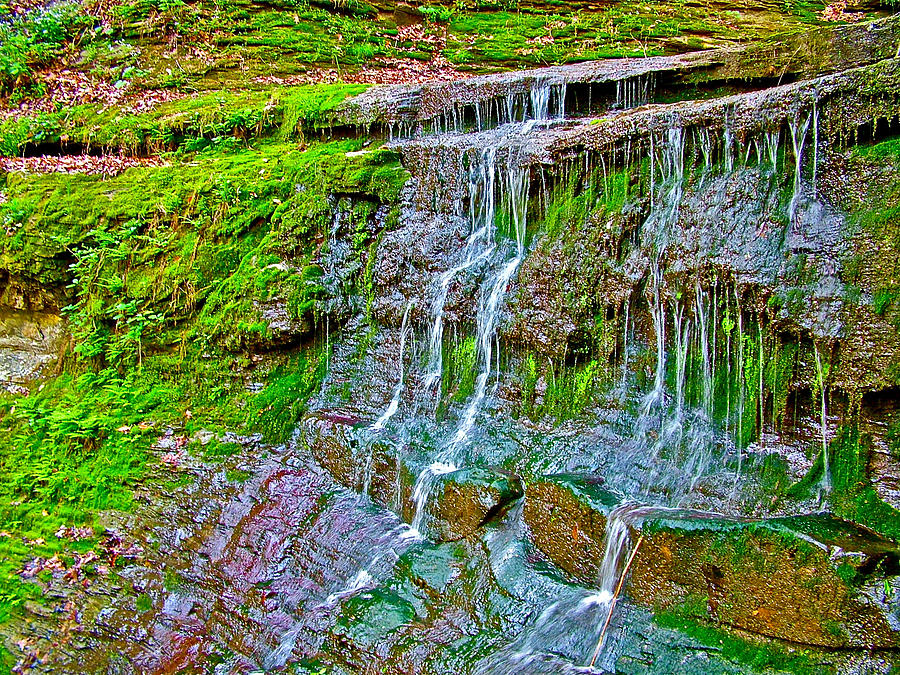 Jackson Falls At Mile 405 Natchez Trace Parkway-tennessee Photograph