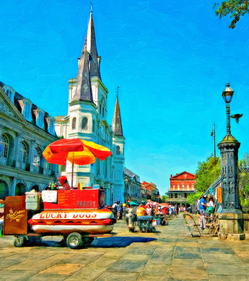 Jackson Square Oil Photograph  - Jackson Square Oil Fine Art Print
