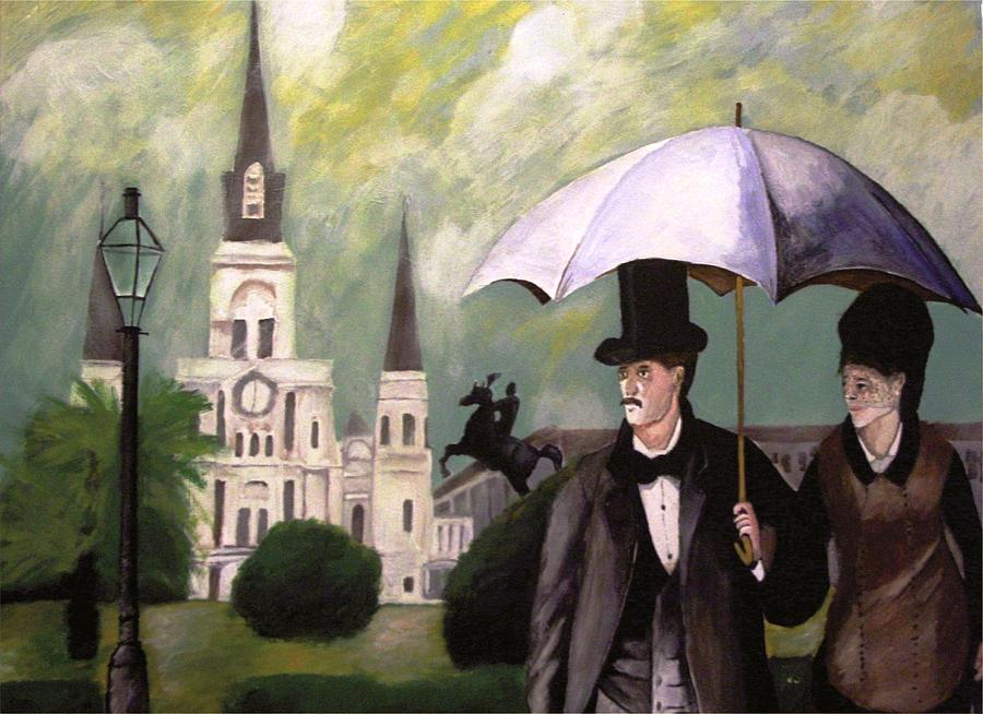 Jackson Square New Orleans Painting - Jackson Square by Rob Peters