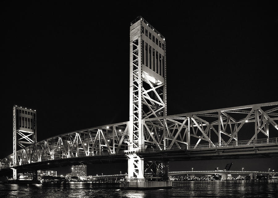 Jacksonville Florida Main Street Bridge Photograph  - Jacksonville Florida Main Street Bridge Fine Art Print