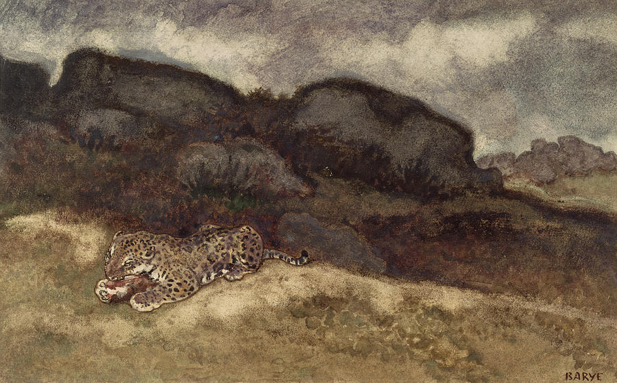 Jaguar Devouring Its Prey Painting  - Jaguar Devouring Its Prey Fine Art Print