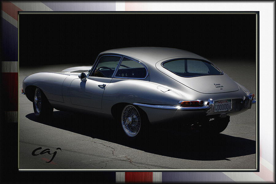 Jaguar E-type By Moonlight Photograph