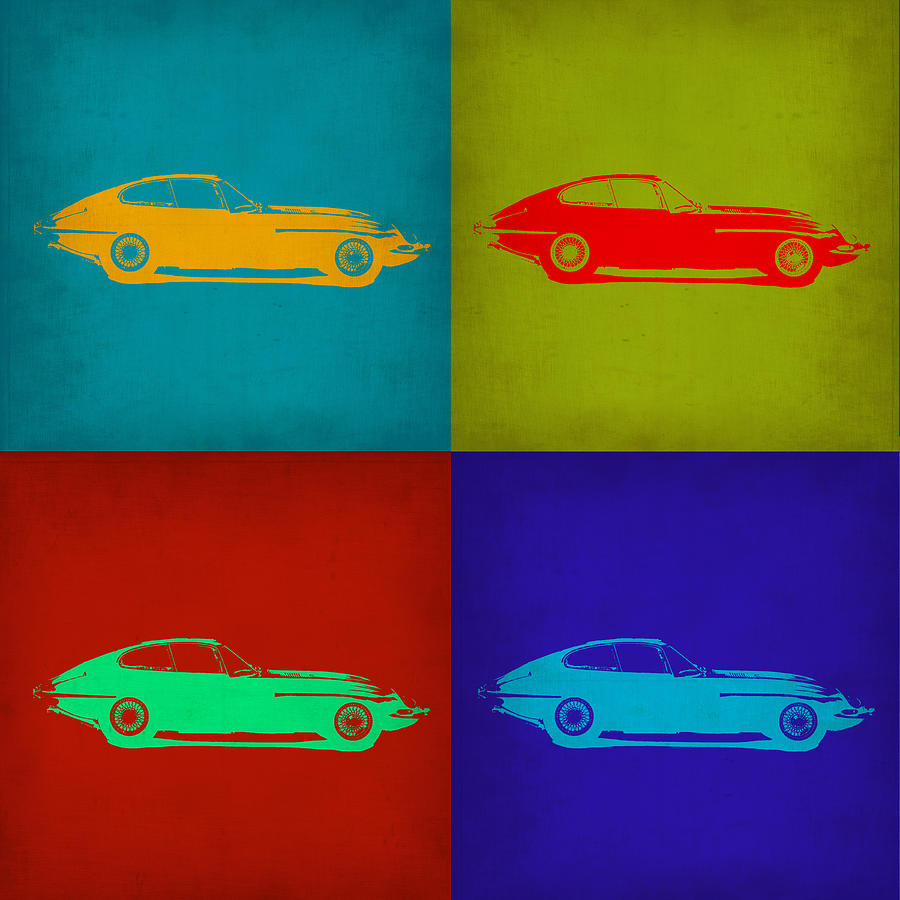 Jaguar E Type Pop Art 1 Painting