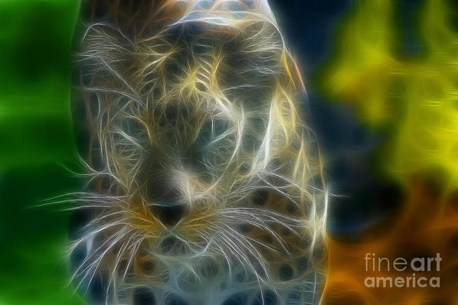Jaguar Photograph - Jaguar208-fractal by Gary Gingrich Galleries