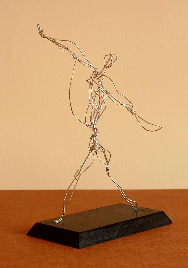 Jai-alai Player Sculpture