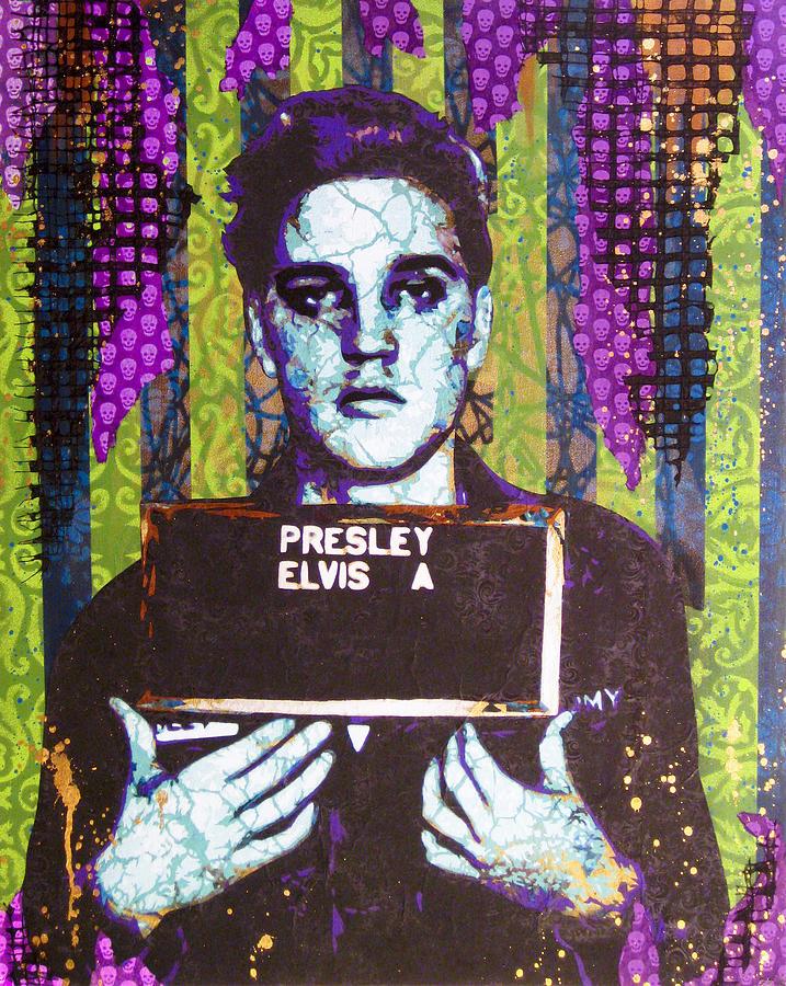 Elvis Painting - Jailhouse Rock by Bobby Zeik