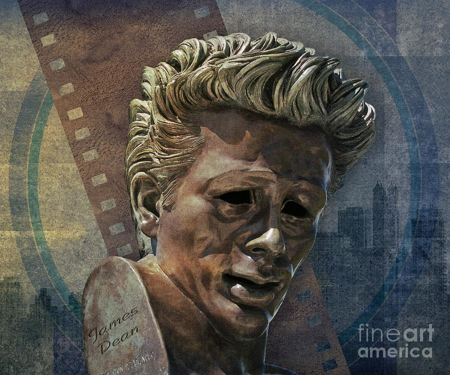James Dean Digital Art  - James Dean Fine Art Print