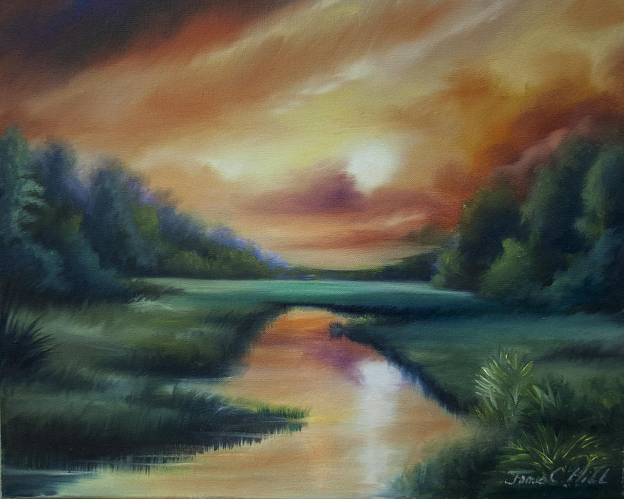 James Island Marsh Painting  - James Island Marsh Fine Art Print
