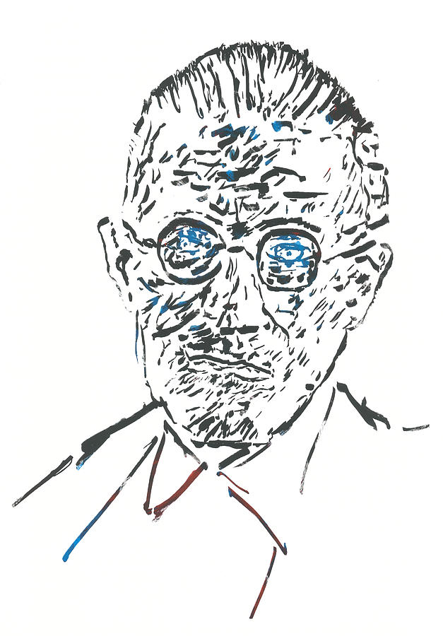 James Joyce Relief  - James Joyce Fine Art Print