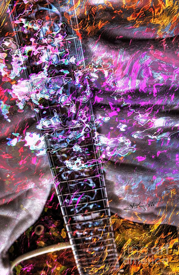 Jammin Out Digital Guitar Art By Steven Langston Photograph