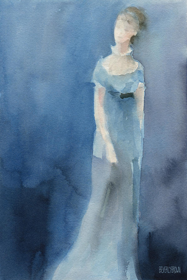 Jane Austen Watercolor Painting Art Print Painting