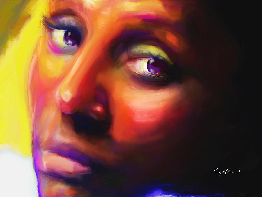 Woman Painting - Jantrez by Carey Muhammad