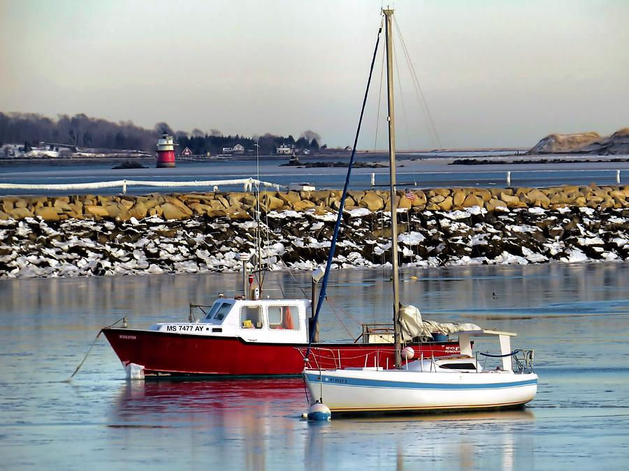 January 2014 Plymouth Ma Harbor Photograph By Janice Drew