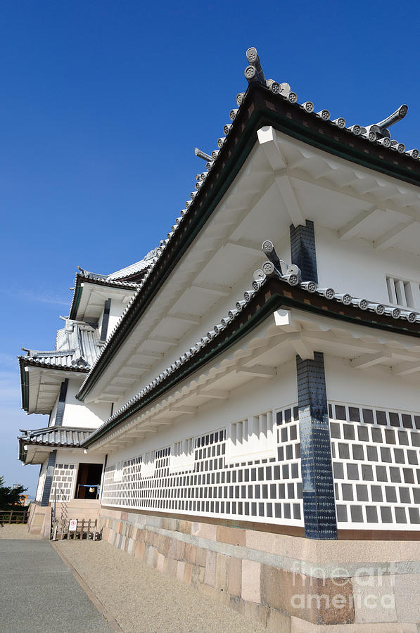 Japanese Photograph - Japanese Castle Close-up by David Hill