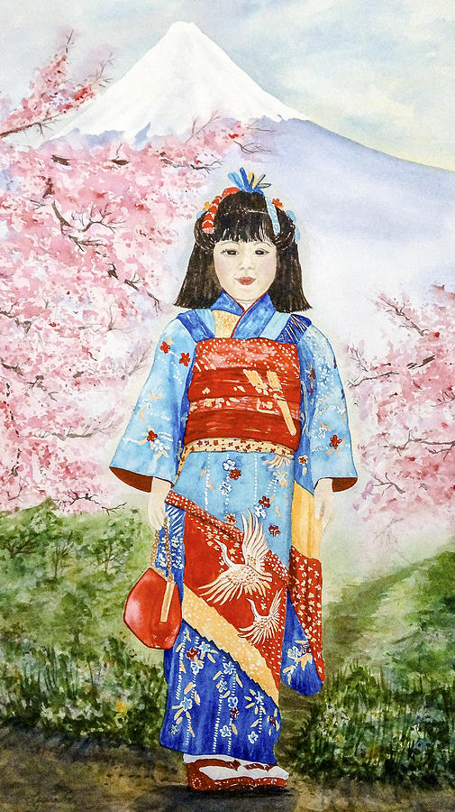Cherry Blossoms Painting - Japanese Spring by Leslie Westover