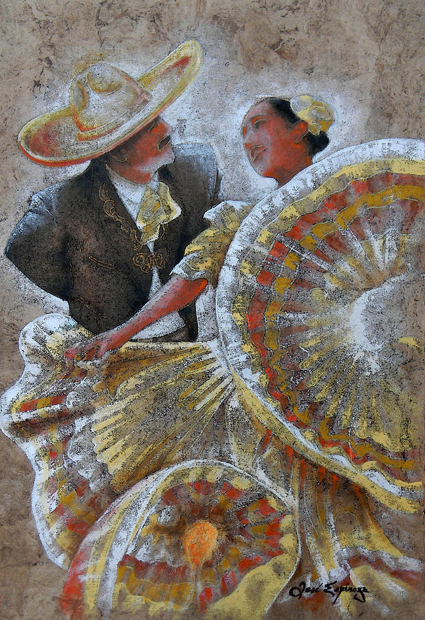 Jarabe Tapatio Dance Painting  - Jarabe Tapatio Dance Fine Art Print