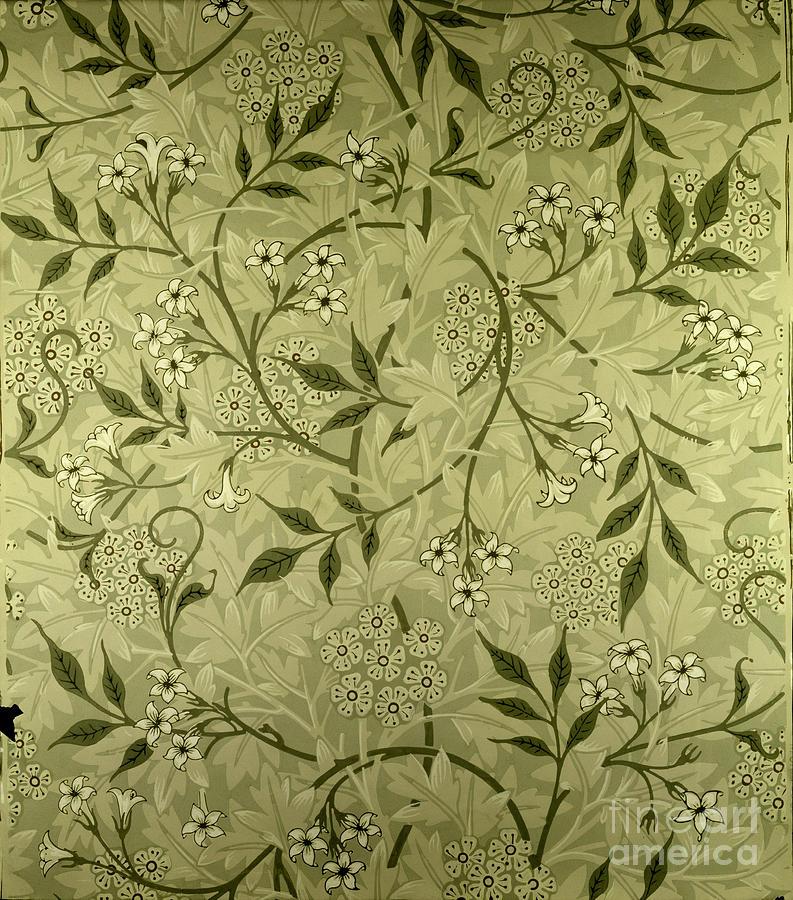 jasmine wallpaper design tapestry textile by william morris