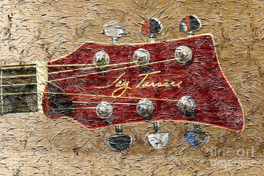 Jay Turser Guitar Head - Red Guitar - Digital Painting Photograph