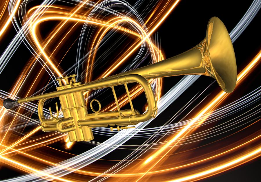 Jazz Art Trumpet Digital Art
