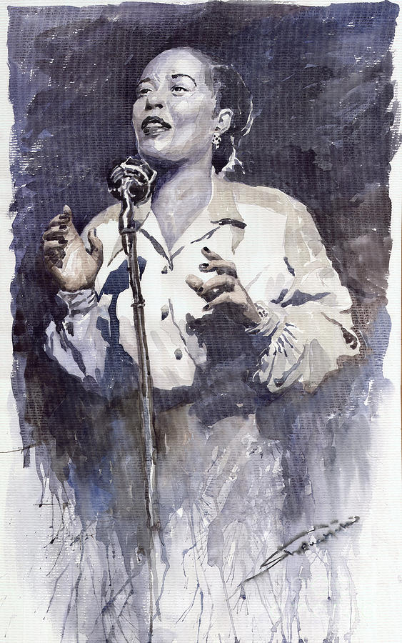 Jazz Billie Holiday Lady Sings The Blues Painting  - Jazz Billie Holiday Lady Sings The Blues Fine Art Print