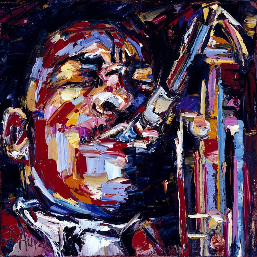 Jazz Face Series John Coltrane Painting By Debra Hurd