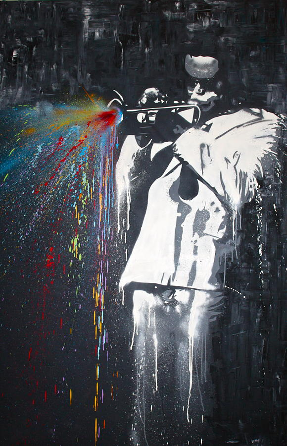 Jazz Man Painting  - Jazz Man Fine Art Print