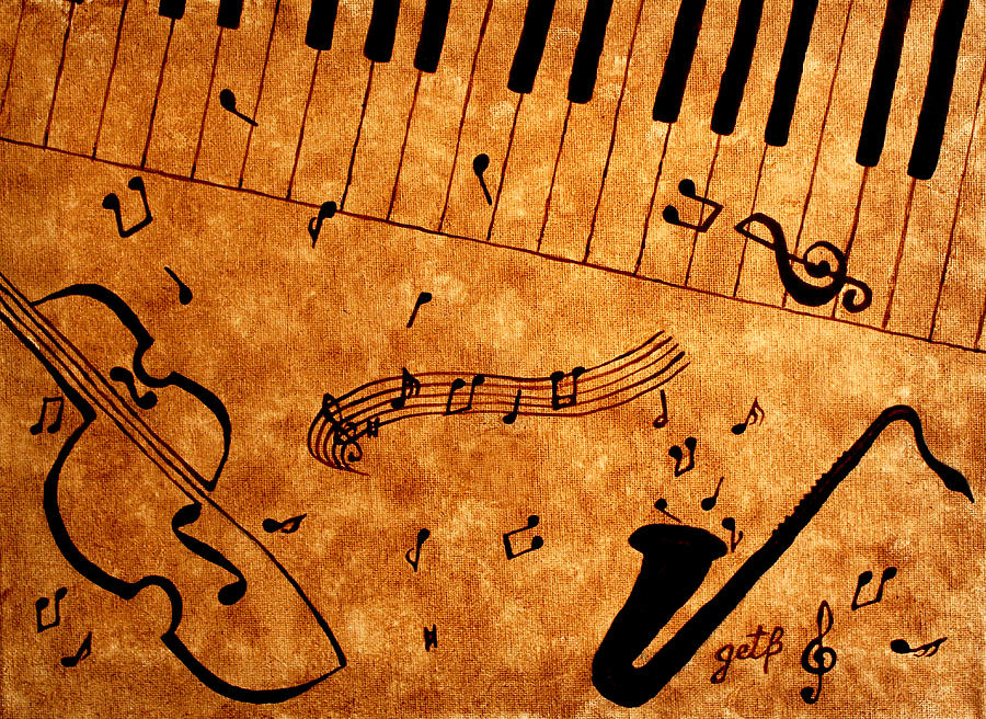 Jazz Music Coffee Painting Painting
