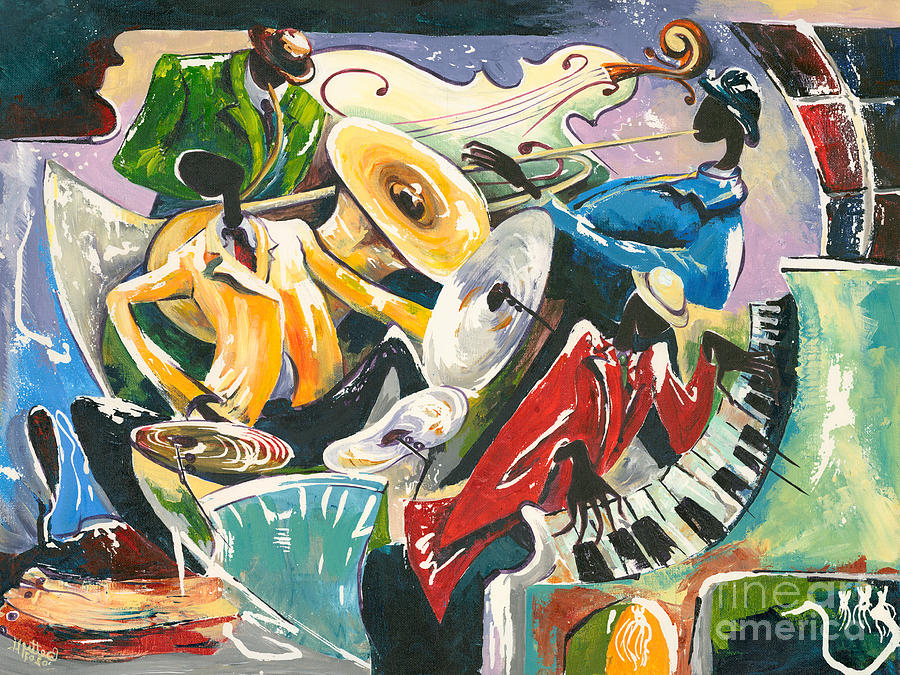 Jazz No. 3 Painting  - Jazz No. 3 Fine Art Print