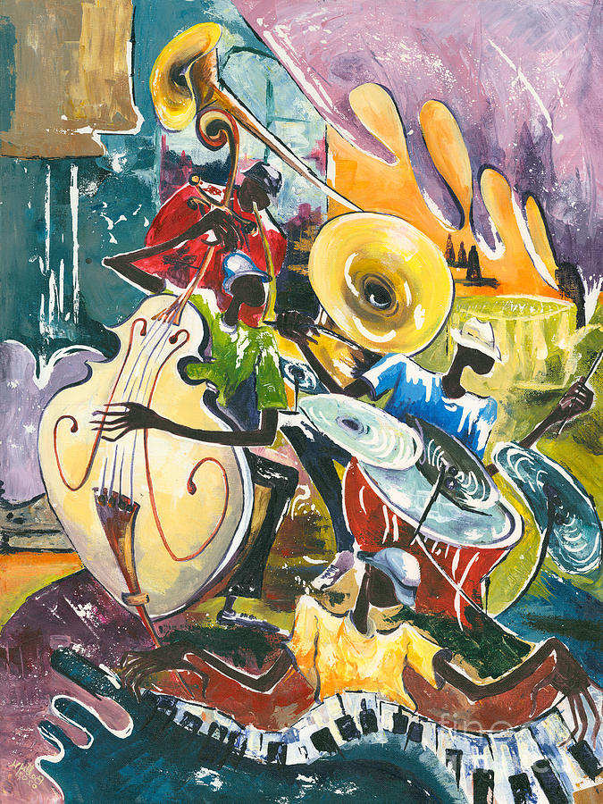 Acrylic Painting - Jazz No. 4 by Elisabeta Hermann