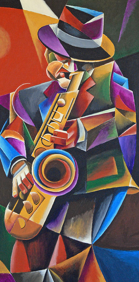 Jazz sax painting by bob gregory for Cool paintings for sale