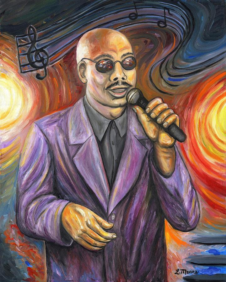 Jazz Singer Painting