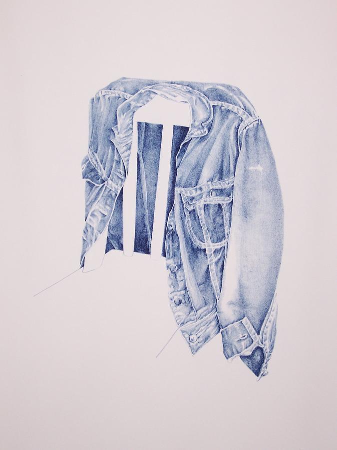 Jean Jacket Drawing by Kathy Vogeley