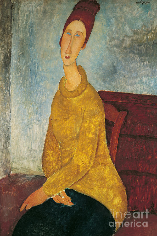 Jeanne Hebuterne In Yellow Sweater Painting
