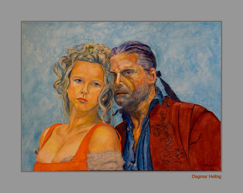 Portrait Painting - Jedermann by Dagmar Helbig