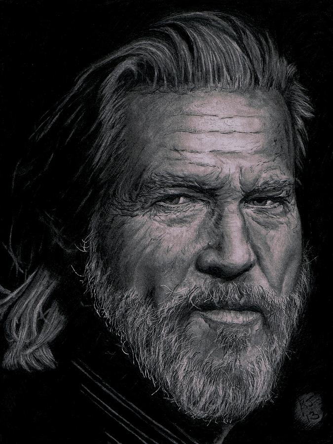Jeff Bridges Drawing  - Jeff Bridges Fine Art Print