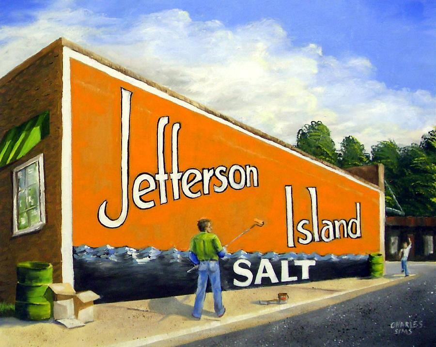 Jefferson Island Salt Painting  - Jefferson Island Salt Fine Art Print